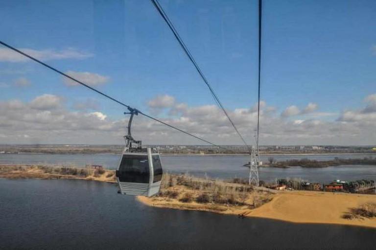 Nizhny Novgorod's cable car | Courtesy of Nathaniel Hunt