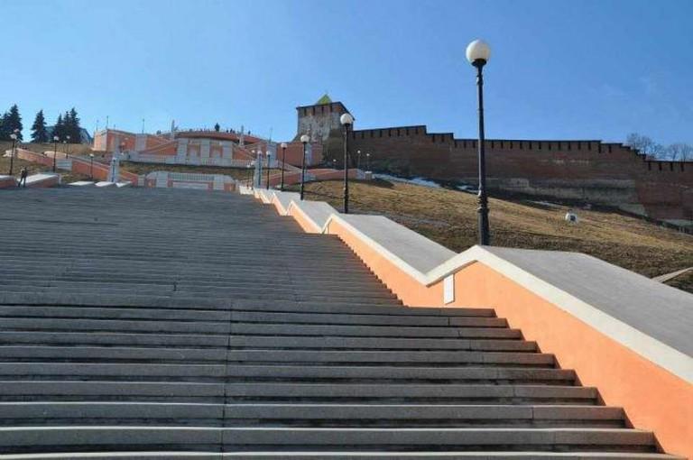 The Chkalov Staircase in Nizhny Novgorod | Courtesy of Nathaniel Hunt