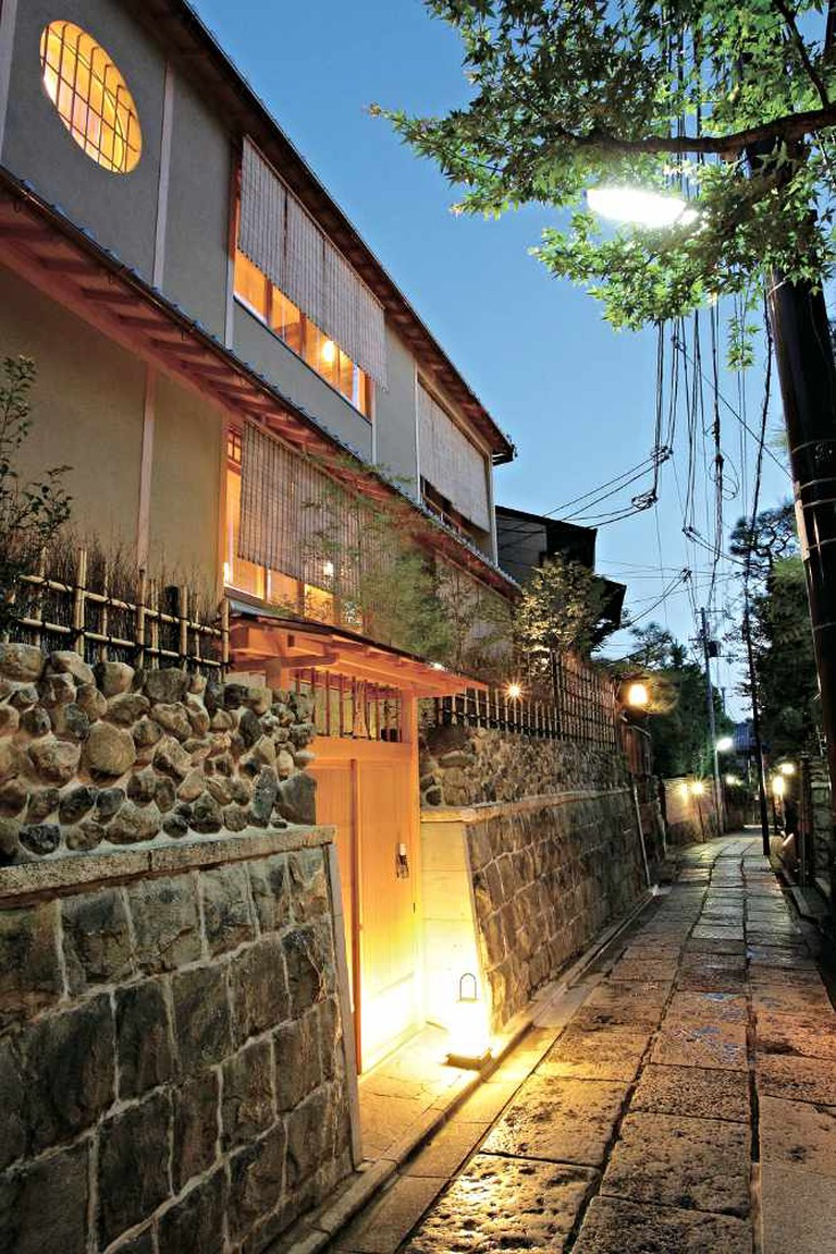 The restaurant coated by stones and stones alley | Courtesy of Kyoto Kamikura