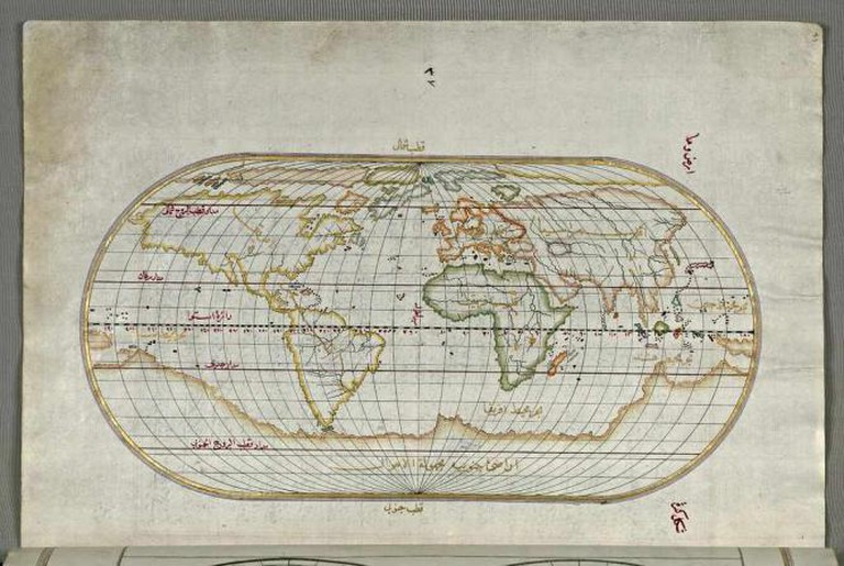 Map of the World from Book on Navigation, Walters Art Museum