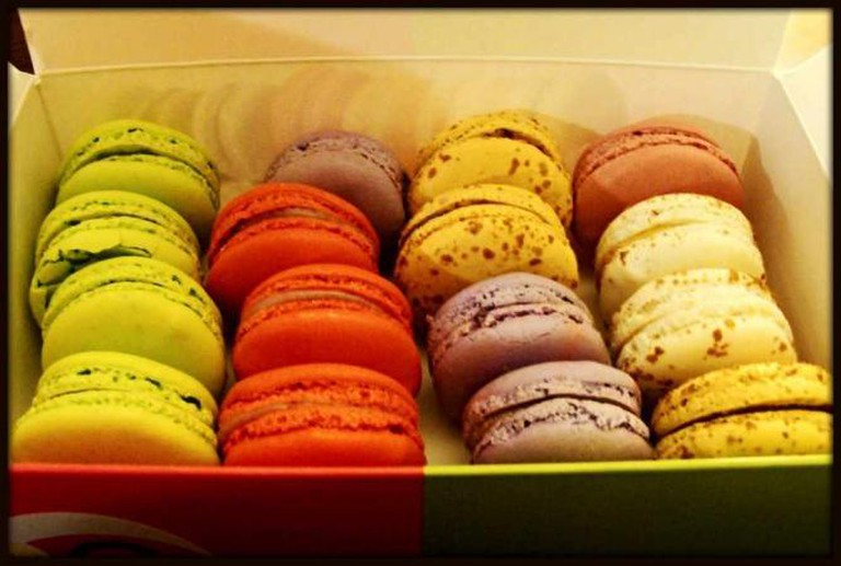 Colourful macaroons available from Boutique Point G, Montreal