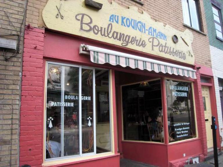 Shop window of Pâtisserie Au Kouign Amann, Montreal