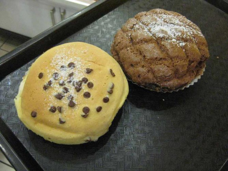 Two of the many buns available at Patisserie Harmonie, Montreal