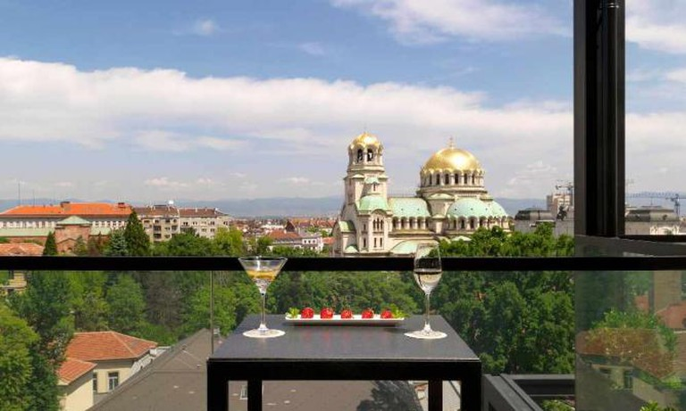 View of Alexander Nevsky Cathedral from the rooftop bar
