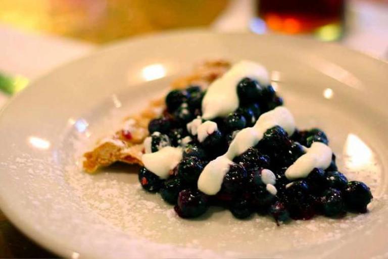 Bubby's blueberry pie