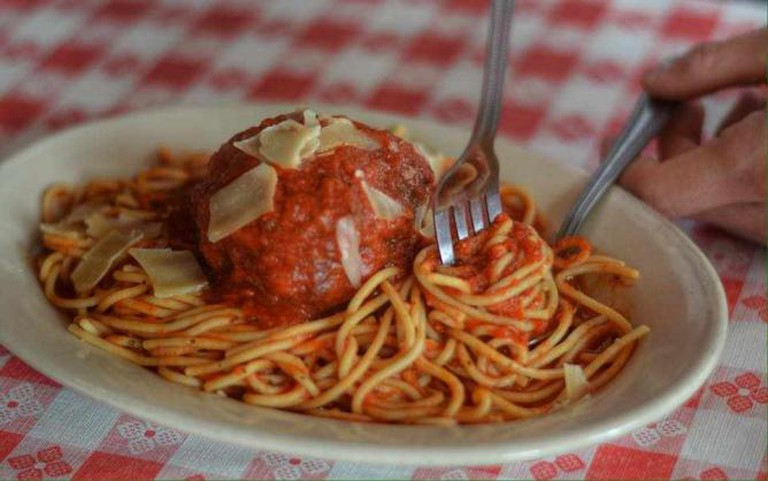 Spaghetti marinara and meatballs | © Martinelli's