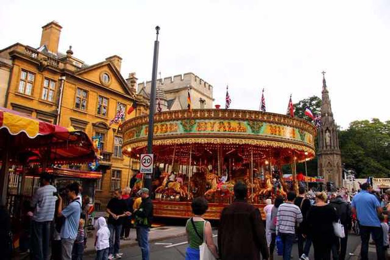 St Giles Fair in Oxford St Giles Fair is held every year on the Monday and Tuesday after the first Sunday in September | © Steve Daniels/Wikicommons