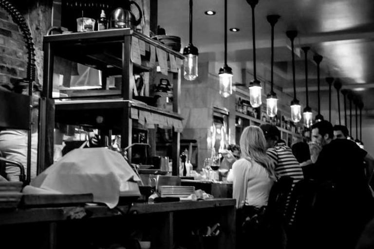 Interior of Restaurant Pied de Cochon
