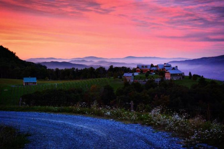 Banner Elk Winery from the upper vineyard   © salliejw, courtesy of Banner Elk Winery