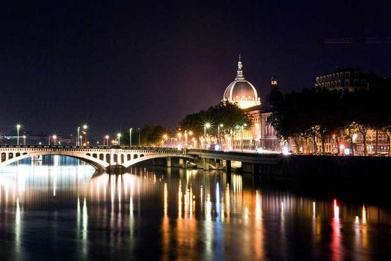 The Rhône at night