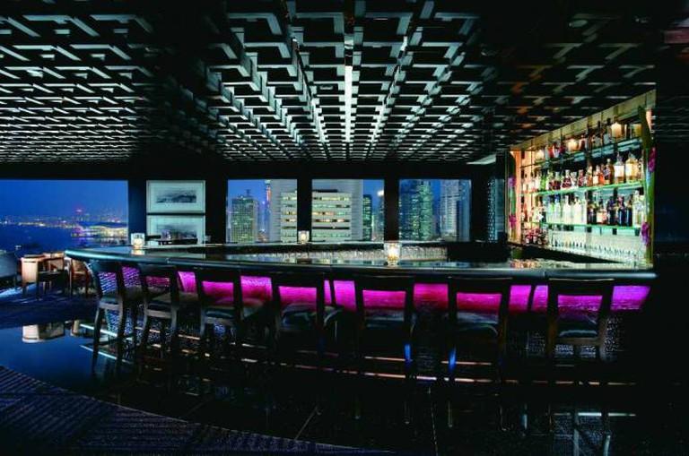 The lotus-shaped bar at M Bar | Image courtesy of M Bar