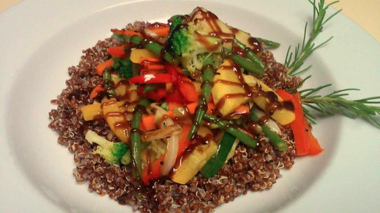 Quinoa Stir Fry at The Old Post Office Restaurant | Courtesy of The Old Post Office Restaurant
