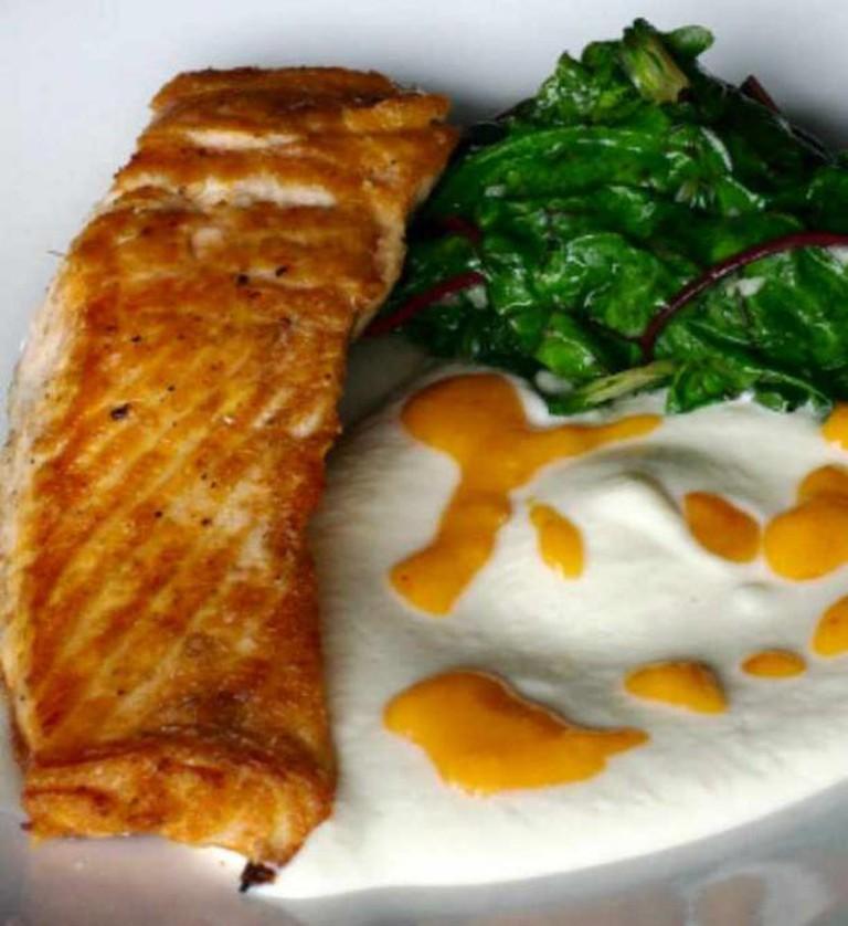 Honey Glazed Scottish Salmon | Courtesy of Aqua Terra Bistro