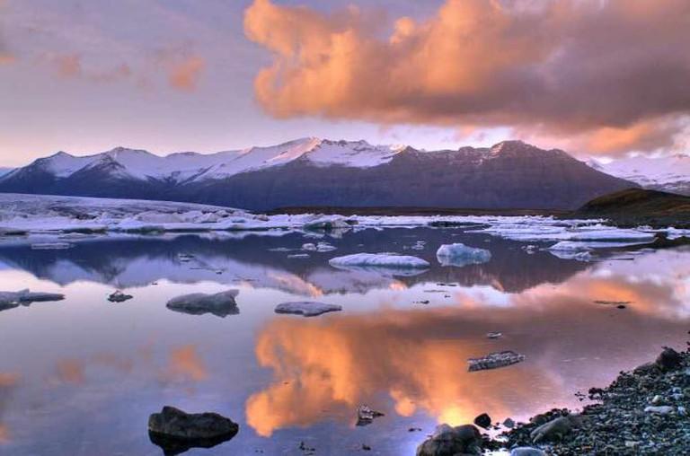 Jokulsarlon Lake in Iceland