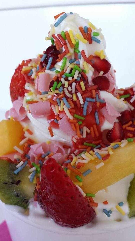 Colorful yogurt with fruit toppings | Courtesy of Yaourtaki