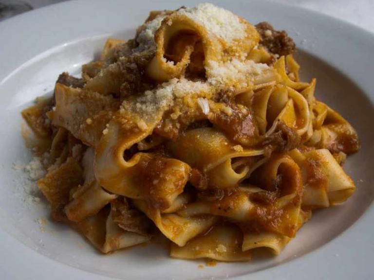 Pappardelle pasta at Piazza Italia