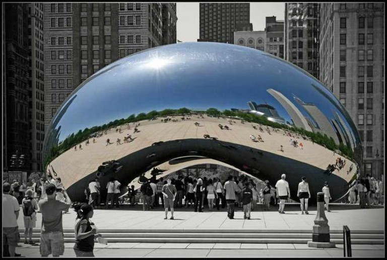 Anish Kapoor's Cloud Gate in Chicago, IL