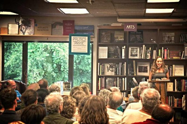 A reading event with guest speakers are hosted frequently at Politics & Prose in Washington DC.
