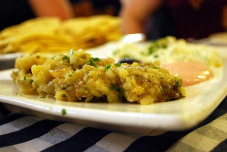 a baba ghanoush dish