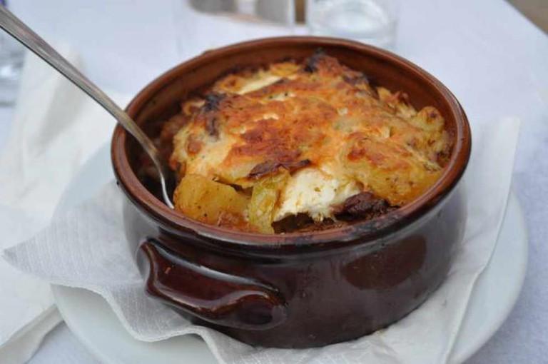 a moussaka dish
