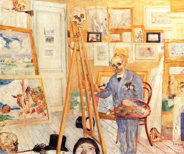 James Ensor, Skeleton at the Empty Easel