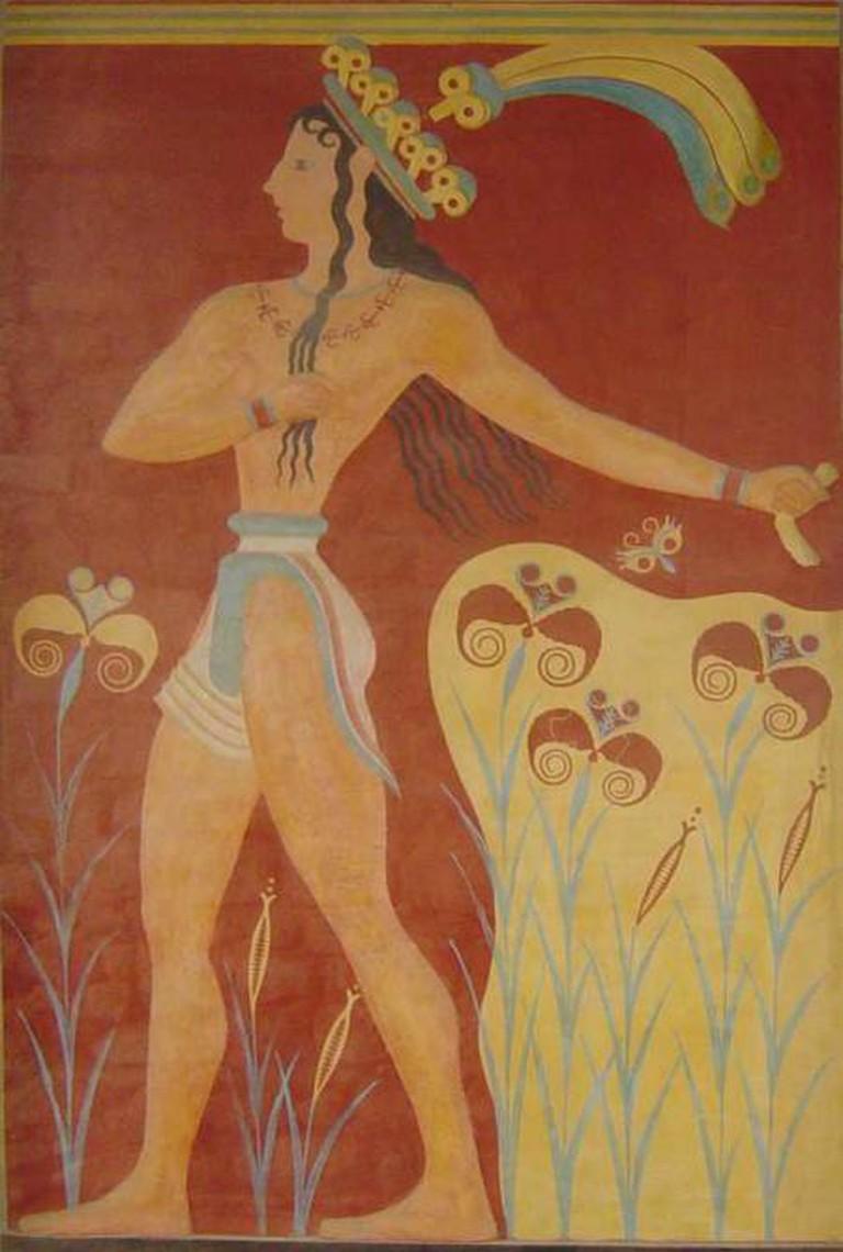 'Prince of lilies', Knossos fresco | © Leonard G./WikiCommons