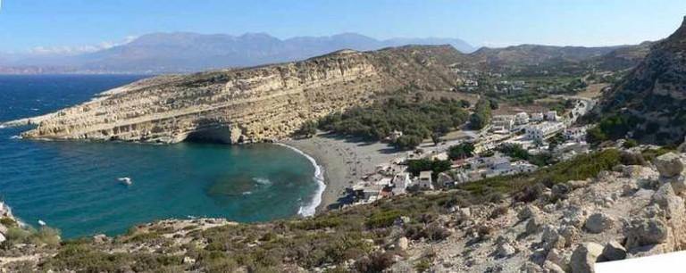 Panoramic view of Matala | © SuperFLoh/WikiCommons