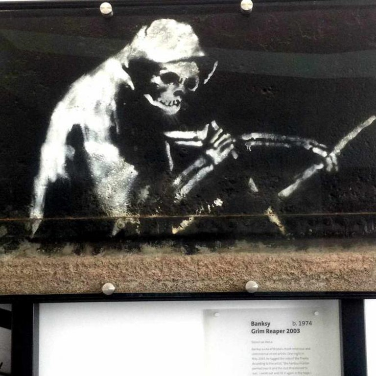 A Banksy masterpiece on display in Bristol's M Shed museum