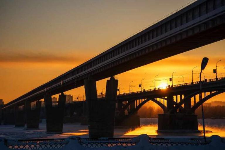 Novosibirsk by sunset | © Mikhail Koninin/Flickr