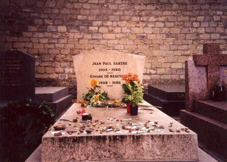The grave of Jean-Paul Sartre and Simone de Beauvoir in Paris