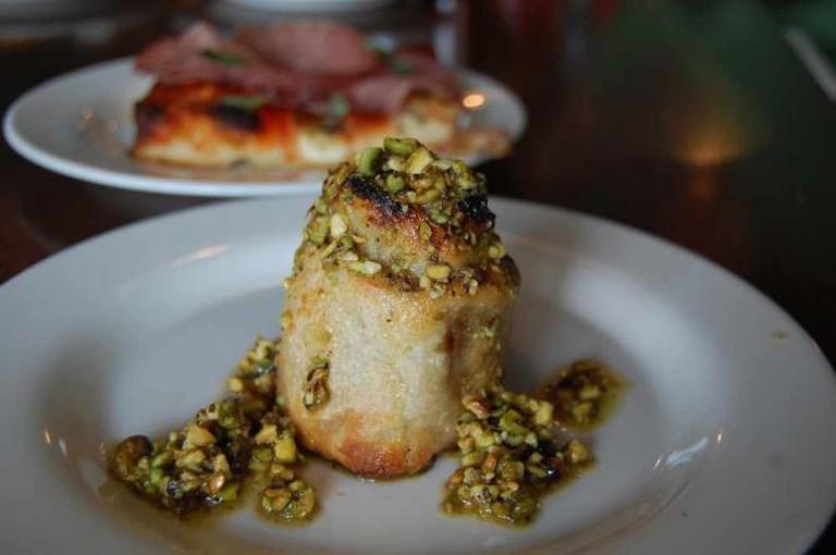 A plate of Rotollo is presented at Vetria, one of Philadelphia's top restaurants in Midtown Village, Philadelphia.