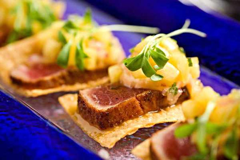 Appetizers are beautifully presented at El Vez Restaurant in Midtown Village, Philadelphia.
