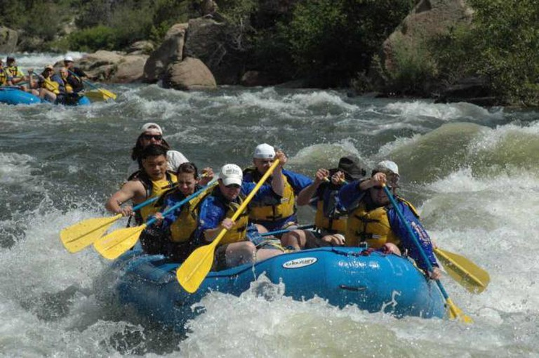 Whitewater rafting on the Arkansas River