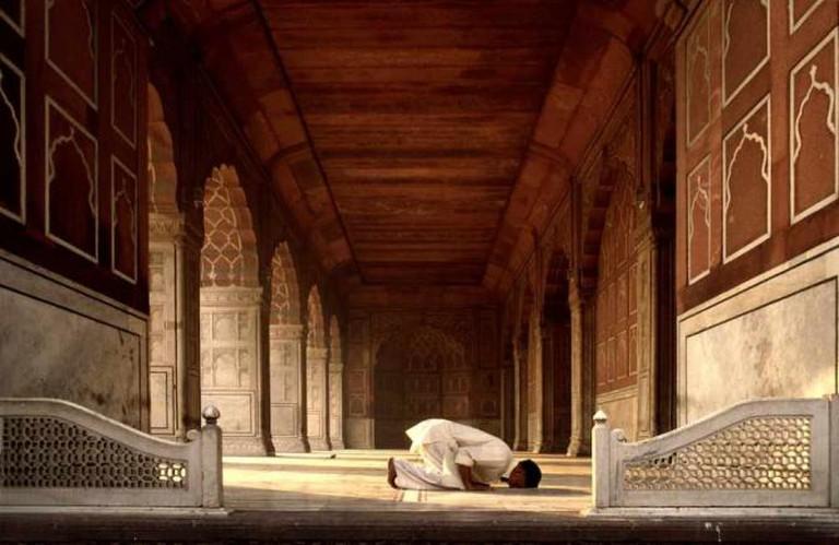 Jama Masjid, Delhi, 1979| © Michael Foley /Flickr