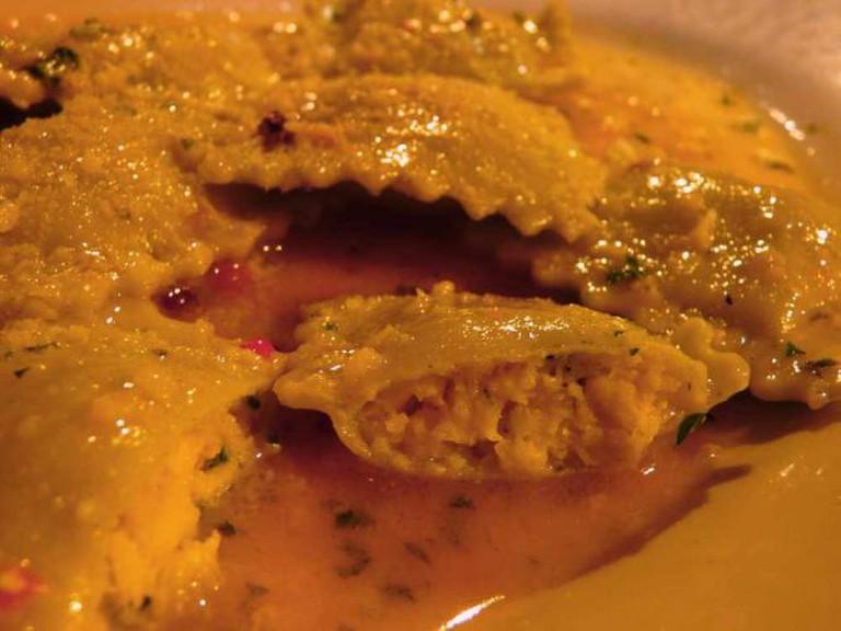 Crab Ravioli at Machiavelli's