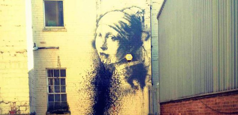 Banksy's 'Girl with a Pierced Ear Drum' | Courtesy of Marianna Hunt