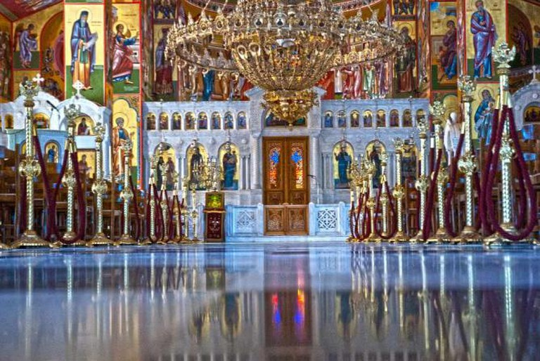 Church interior at the Monastery of Agios Gerasimos