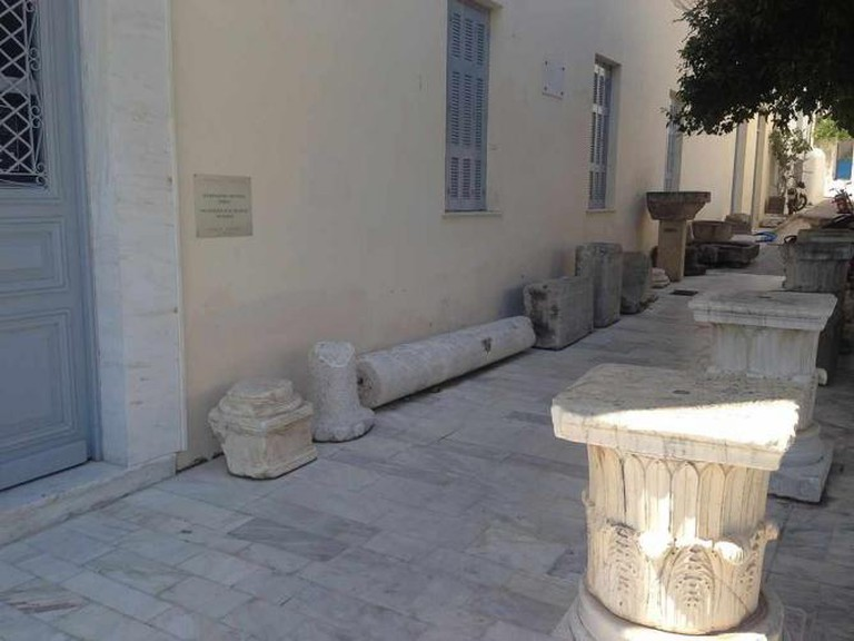 Outside of the Archaeological Museum of Poros