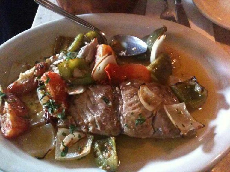 A Greek dish similar to the dishes at Dimitri's in Northern Liberties.