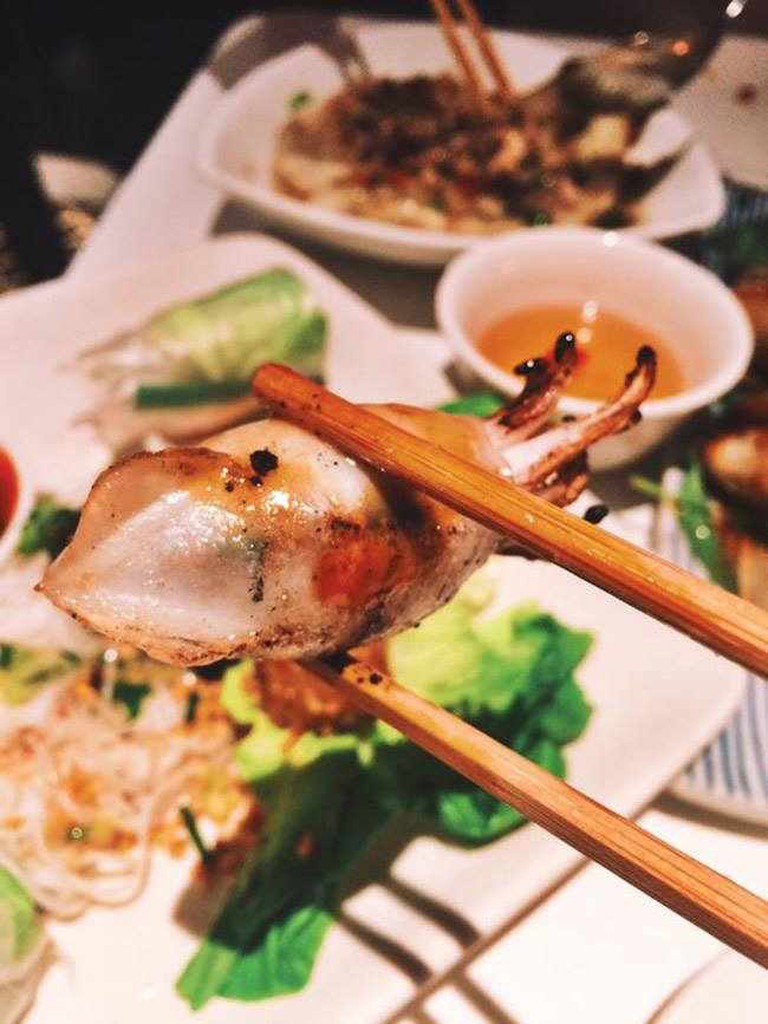 Confit duck-stuffed squid at Cây Tre | © Emma Cooke