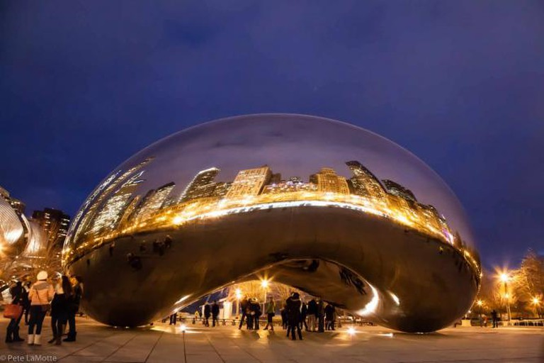 Twilight Cloud Gate | © Pete /Flickr