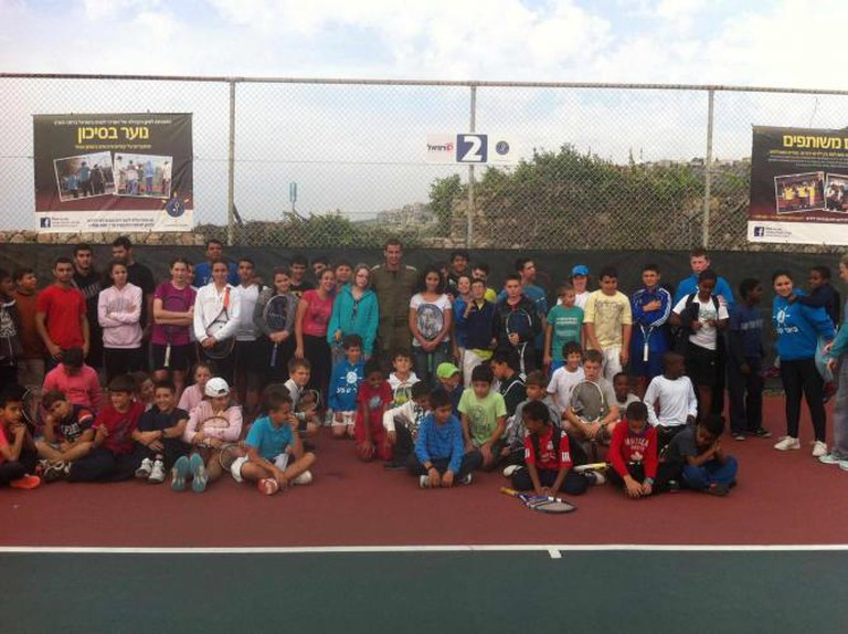 ITC children of all ages at the end of another successful event | © Courtesy Israel Tennis Centers