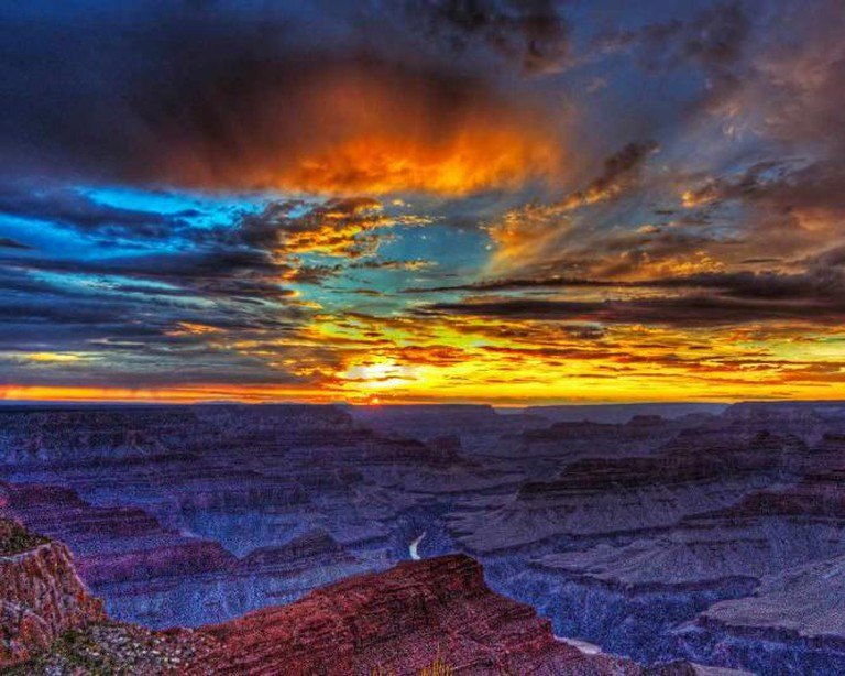 Grand Canyon sunset from Hopi Point