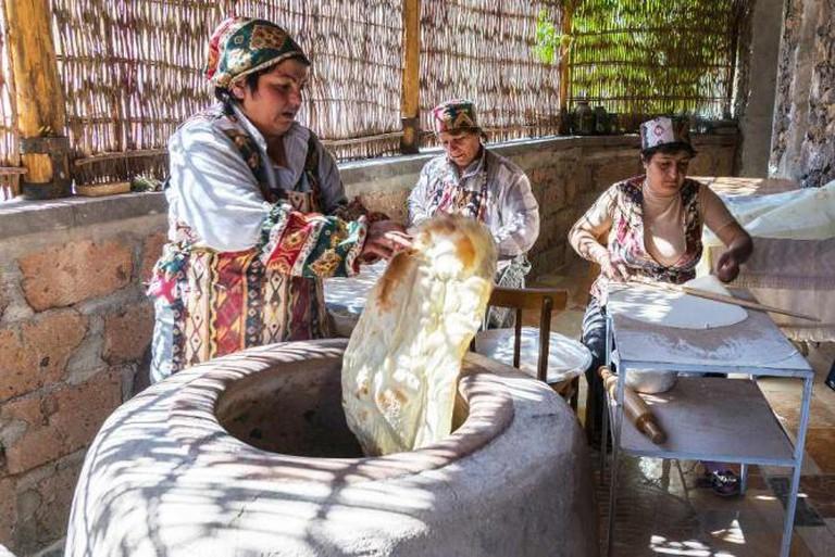 Making Lavash in Armenia