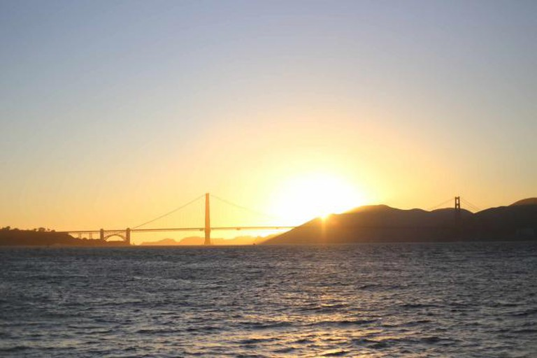 View of the Golden Gate Bridge from the Wave Organ