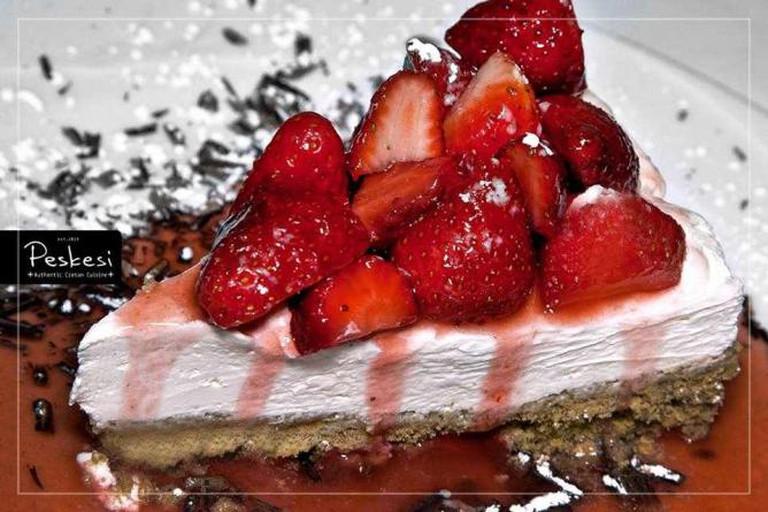 Cretan cheesecake | Courtesy of Peskesi