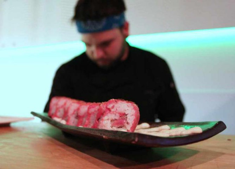 Seabar's beef on weck sushi roll