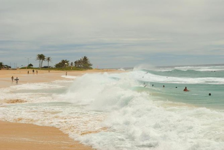 Sandy Beach - High Surf