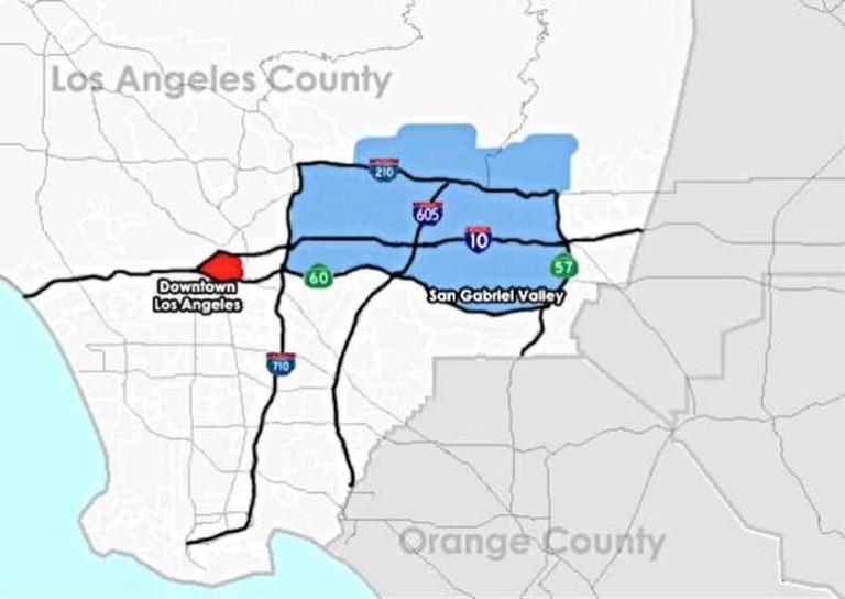 San Gabriel Valley in Los Angeles County | © Marcel Douwe Dekke/WikiCommons