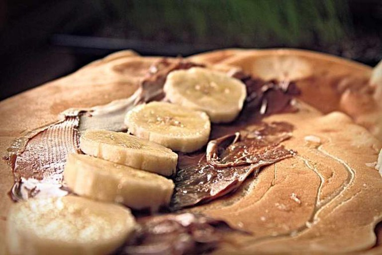 Pancakes with Nutella and Banana
